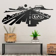 Wall Sticker Route 66 At Sunset Muraldecal Com