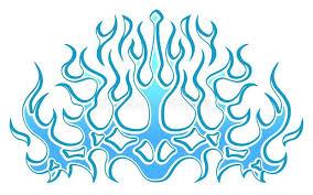Frozen Ice Tribal Blue Flames Sticker On The Hood Car Bike Vehicle Graphics Vinyls Decals Vector Illustration Blue Tribal Car Graphics Vinyl Decals