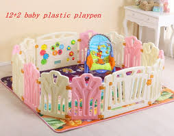 14 2 Baby Plastic Playpen Baby Game Fence Safety Fence For Kids Play Yard Easy To Assemble Free Shipping Via Fede Baby Play Yard Kids Playpen Kids Play Yard