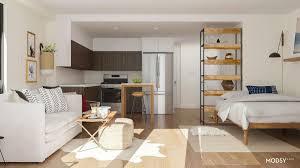 studio apartment layout ideas two ways