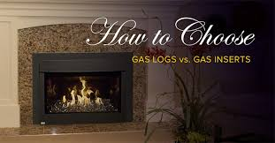 gas logs and a gas insert