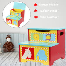 Girls Boys Folding Storage Toy Box Seat Stool Books Clothes Chest Kids Room Tidy Sfhs Org