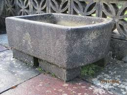 sandford stone garden sink in