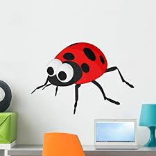 Amazon Com Wallmonkeys Lady Bug Wall Decal Peel And Stick Graphic 24 In W X 17 In H Wm159386 Home Kitchen