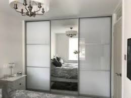 fitted wardrobe sliding mirror glass