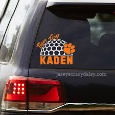 Personalized Tiger Golf Decals Jasey S Crazy Daisy