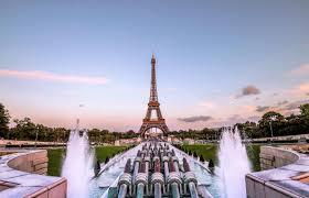 برج إيفل خلفية باريس الذهب Hd مساء عريضة عالية الوضوح ملء الشاشة