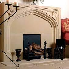 tudor chimney piece rose thistle