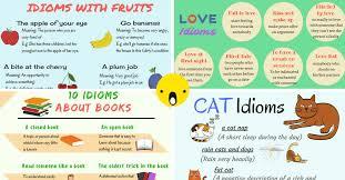popular english idioms arranged in