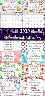 printable monthly motivational calendars calendar