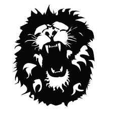 Black White Roaring Lion Car Decals For Car Window Stickers Decor Waterproof L035 Car Stickers Aliexpress