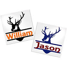 Amazon Com Yeti Deer Decal Stickers For Trucks Cups Tumblers Your Choice Of Colors Name Decals By Adavis Home Improvement