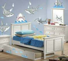 57 Sharks And Fish Wall Decals Kids Ocean Stickers Bedroom Game Toy Room Decor 781669100071 Ebay