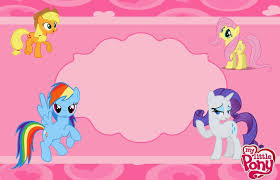 My Little Pony Party Free Printable Invitations My Little Pony