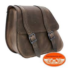 bag brown leather dyna harley davidson