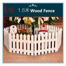 China Christmas Tree Decoration Christmas Scene Window Display Props 1 6 Meters Wooden Fence China Christmas Decoration And Party Price