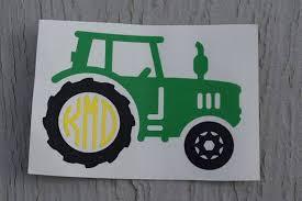 Monogram Tractor Vinyl Decal Farmer Decal Farming Decal Etsy Cricut Crafts Vinyl Decals Cricut Creations