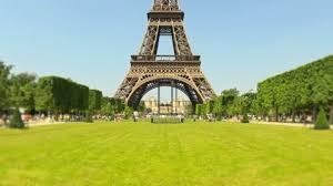 eiffel tower in background stock