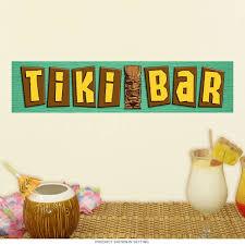 Tiki Bar Tropical Words Wall Decal At Retro Planet