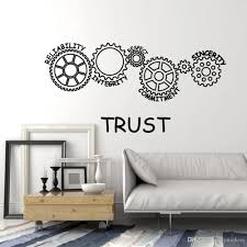 Gears Trust Words Stickers For Office Reliability Integrity Respect Vinyl Wall Decal Decor School Teen Room Decoration Wall Art Decor Stickers Wall Art Murals Decals Stickers From Joystickers 11 67 Dhgate Com
