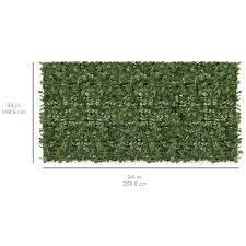 3 Years Warranty Mesh Backing Colourtree 59 Tall Artificial Hedges Faux Ivy Leaves Fence Privacy Screen Cover Panels Decorative Trellis 59 X 98 Patio Lawn Garden Outdoor Decor