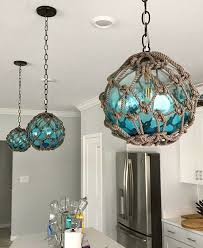lamps inspired by fishing glass floats
