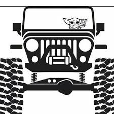 P Baby Alien Vinyl Decal Window Bumper Sticker Luke Darth You Can Choose The Color Just Leave Th In 2020 Jeep Decals Jeep Wrangler Stickers Jeep Wrangler Accessories