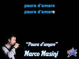 Marco Masini - Paura d'amare (karaoke)