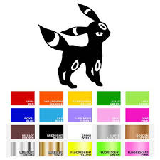 3 32 Umbreon Eevee Decal Sticker For Macbook Laptop Car Window Home Wall Yeti Cup Mug Ebay Electronics Macbook Laptop Yeti Cup Purple Baby