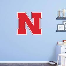 Fathead Ncaa Nebraska Cornhuskers Logo Wall Decal Nebraska Cornhuskers Hayneedle