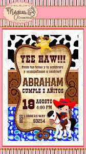 Invitacion Digital Cumpleanos Ninos Cowboy 80 00 En Mercado Libre