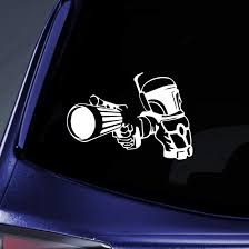 Amazon Com Bargain Max Decals Boba Fett Bounty Hunter Design Sticker Decal Notebook Car Laptop 8 White Automotive