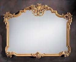 carved wood mirror decorative crafts