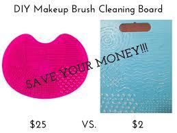 makeup brush cleaner mat diy saubhaya