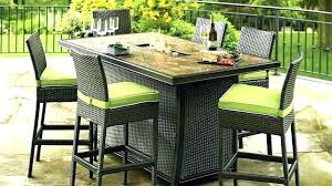 fire pit table and chairs patio table