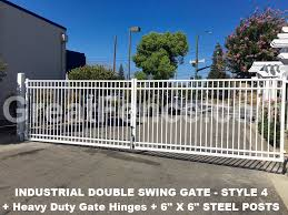 Aluminum Driveway Gates Double Swing Great Fence