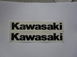 Amazon Com Kawasaki Black On Clear Vinyl Decal Weather Proof Heavy Duty Glue Sticker 7 X 1 5 Pair Automotive
