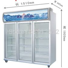 glass door freezer big fridge freezer