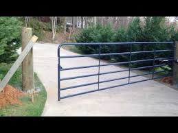 16ft Automatic Driveway Gate For 300 Youtube