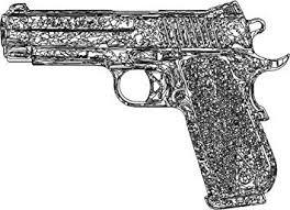 Amazon Com Vinyl 1911 Pistol Decal 2nd Amendment Bumper Sticker Gun Gift Automotive