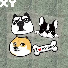 Xy 4 Pcs Funny Dog Car Stickers Motorcycle Stickers Decals Car Styling Waterproof Reflective Type Car Styling Sticker Motorcyclemotorcycle Sticker Aliexpress
