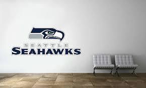 Seattle Seahawks Nfl Wall Decal Vinyl Sport Logo Design Man Cave Decor Cg1424