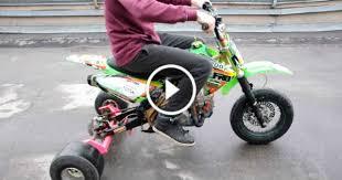 dirt bike converted to a drift trike