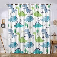 Cartoon Dinosaur Cute Kids Room Nursery Curtains Lovely Children