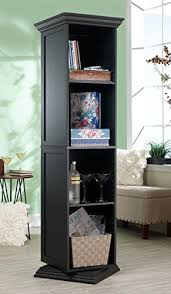 standing swivel accent storage cabinet