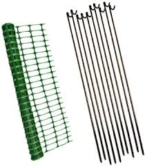 1m X 15m Green Mesh Barrier Safety Fence 80gsm 10 Metal Fencing Pins Amazon Co Uk Diy Tools
