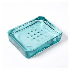glass soap dish blue the conran