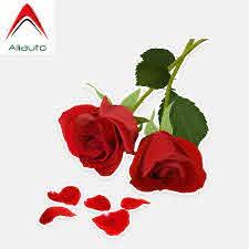 Aliauto Car Stickers Pretty Red Rose Auto Accessories Decorative Vinyl Decal For Mazda 3 Subaru Golf 4 Mini Cooper 14cm 12cm Car Stickers Aliexpress