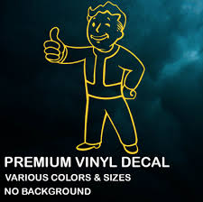 Fallout Vault Boy Premium Vinyl Decal Sticker Xbox Ps4 Pc Car Various Colors Ebay