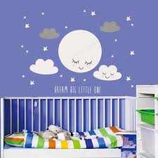 Dream Big Little One Wall Sticker Vinyl Smiley Stars White Cloud Wall Decal Kids Room Wall Decor Jh252 Wall Stickers Aliexpress